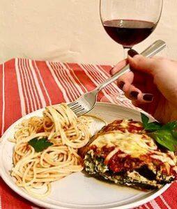 Mediterranean inspired eggplant lasagna_